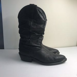Other - LEATHER BLACK BOOTS